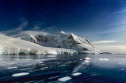 night mountain, Antarctica