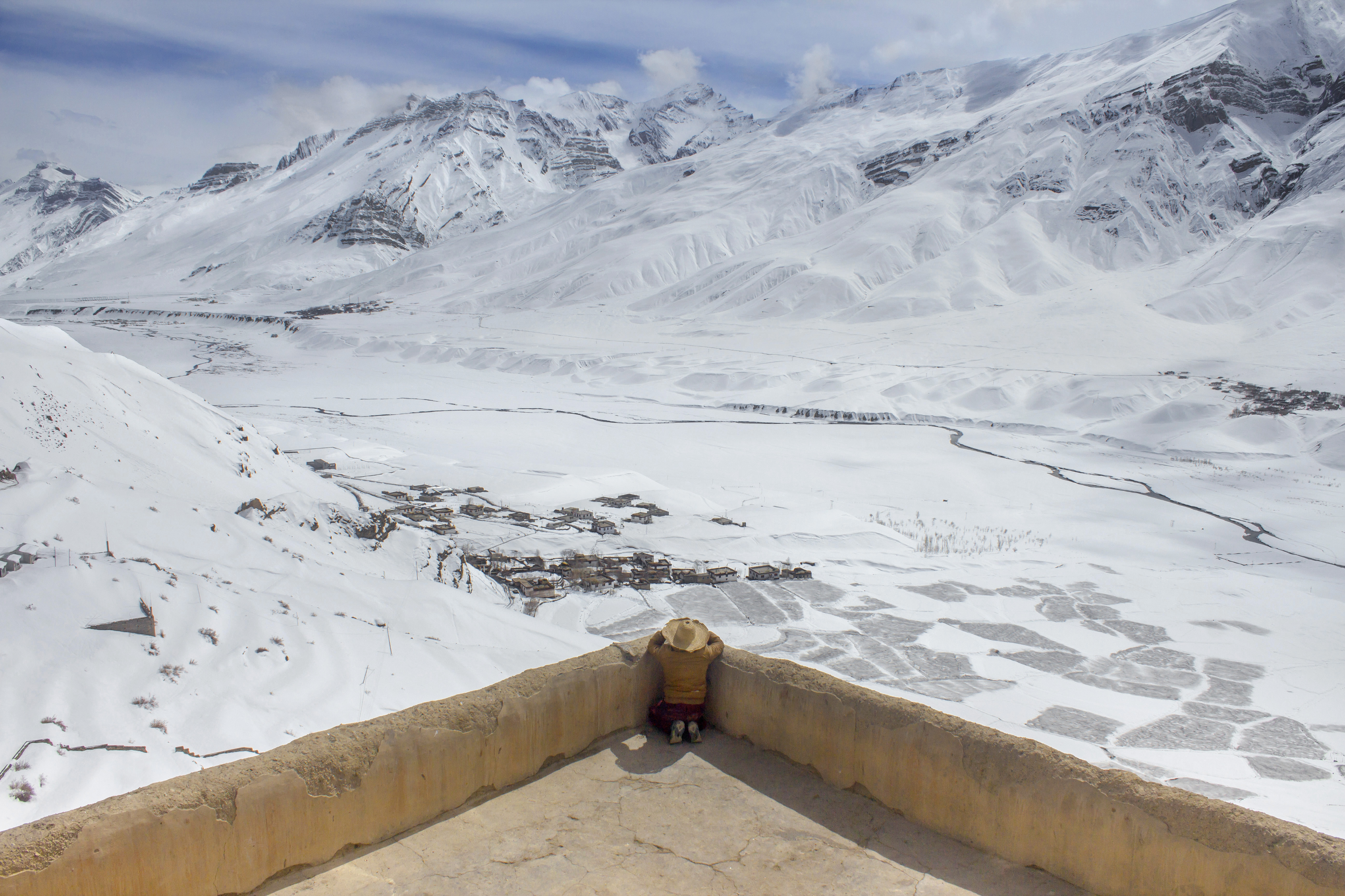 Look out, Key Monastery, Spiti