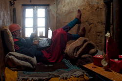 Monk laptop, Ket Monastery, Spiti