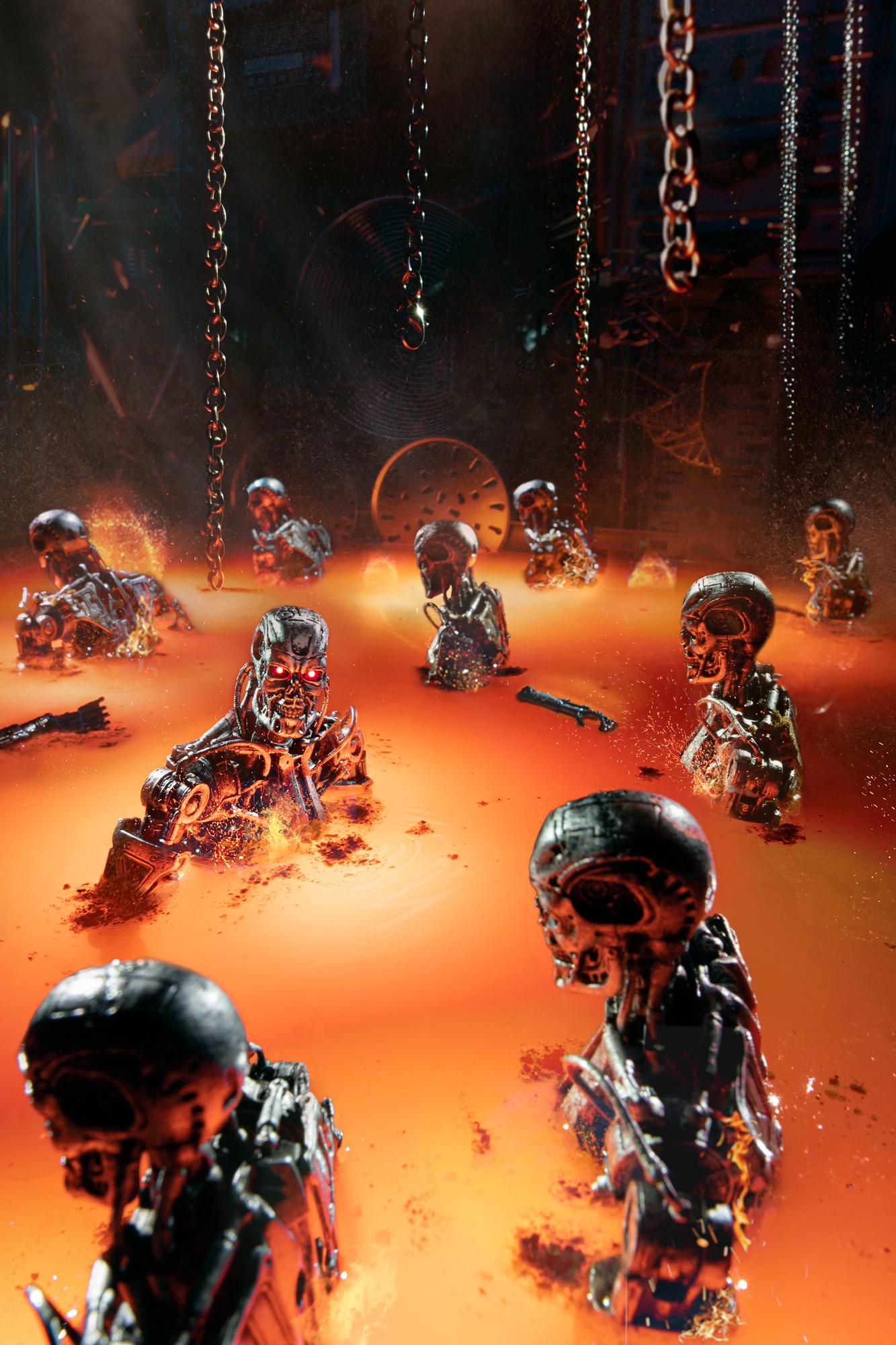 Terminator final scene-T800
