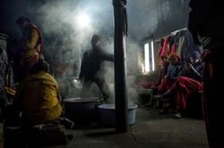 Kitchen chaos, Key Monastery, Spiti
