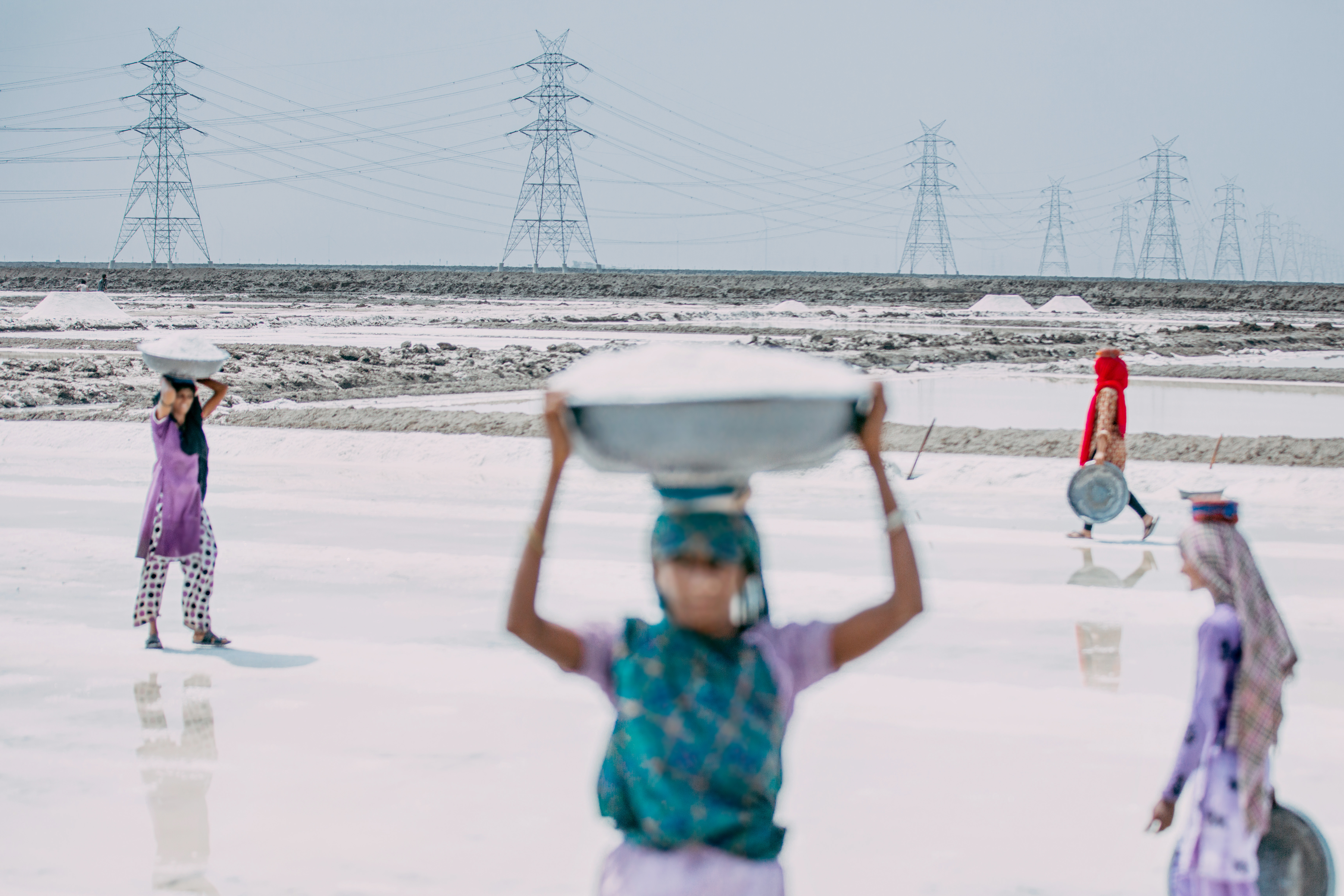 Salt pans, Great Rann of Kutch, Near Dholavira, Gujarat, India