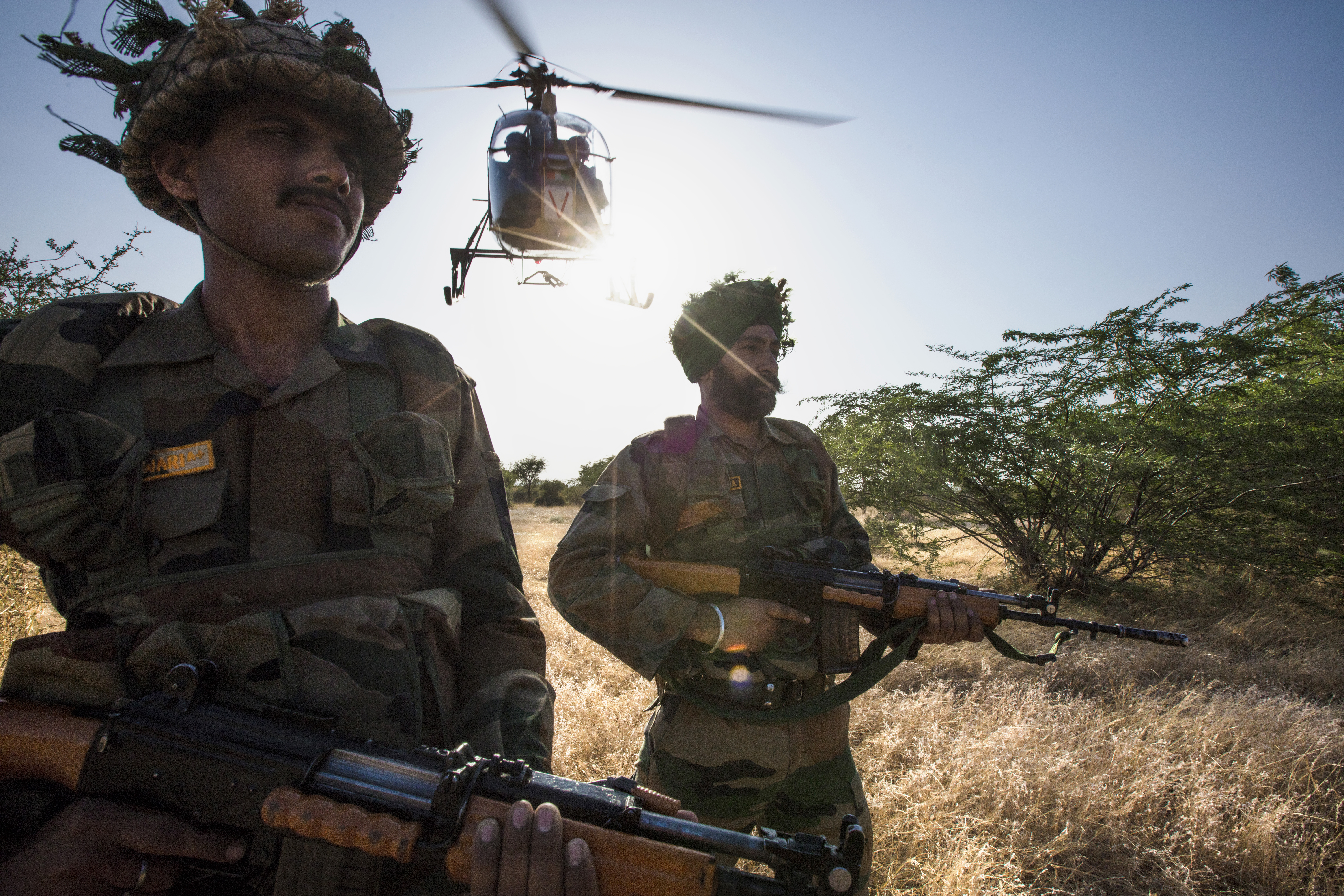 Cheetah troops low take-off