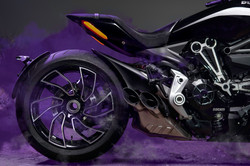 Ducati X diavel-s side view