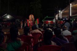 End of Mudiyettu ceremony