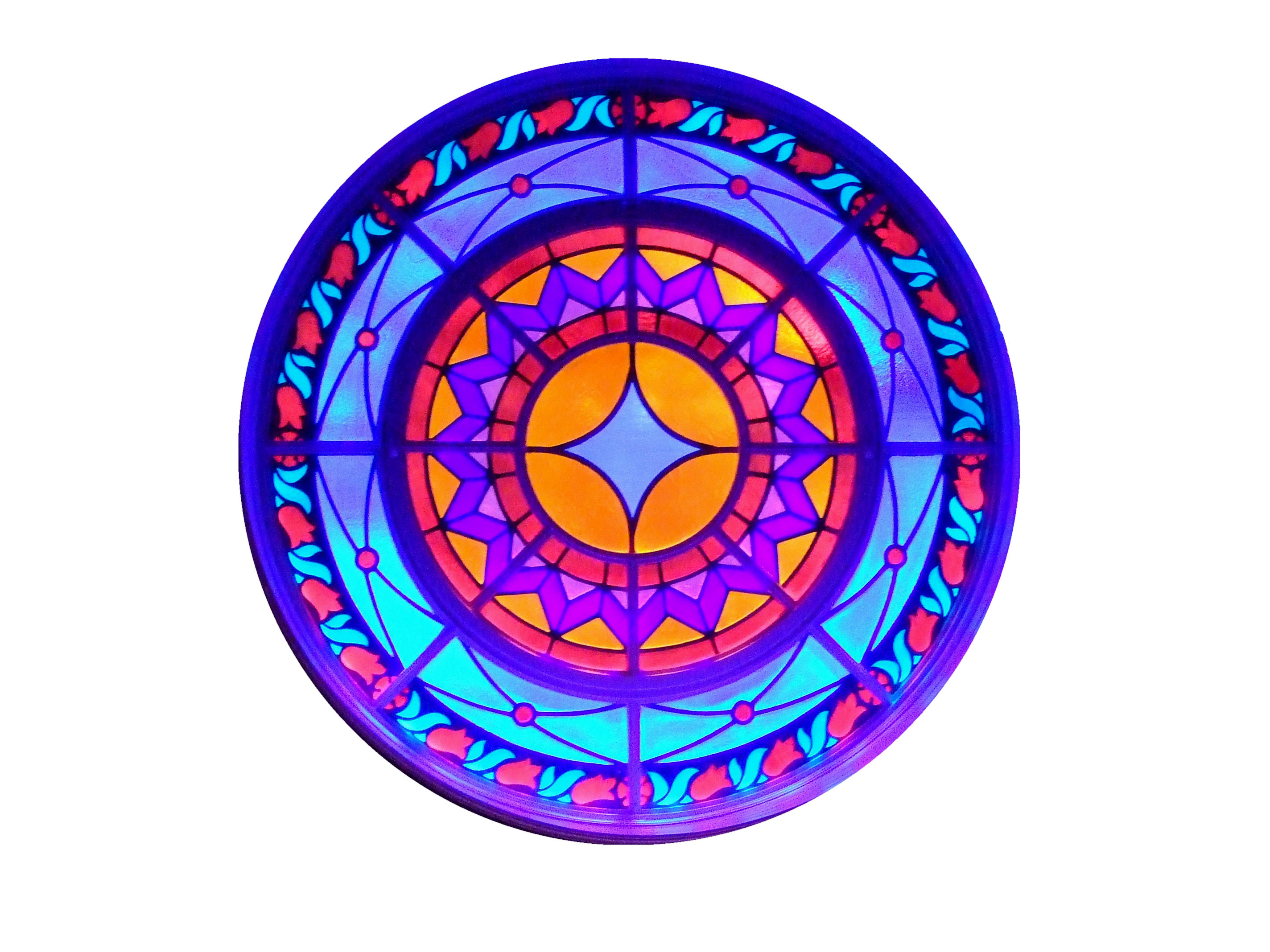 Round Stain Glass Window