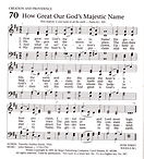 Hymn 70 - How Great Our God's Majestic N