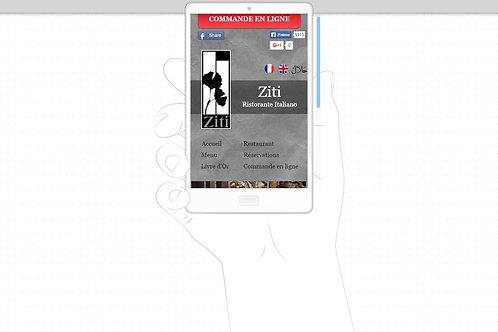 Site mobile optimisé (Prix HT/Illimité)