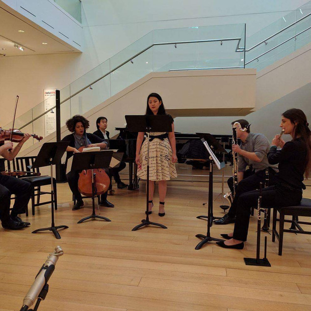 Performance of Pierrot Lunaire at the Museum of Fine Art in Boston