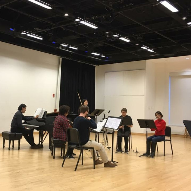 Rehearsing Pierrot Lunaire at the Boston Conservatory