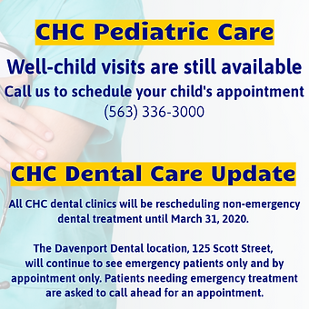 Peds and Dental Update - FB Post 3-17-20
