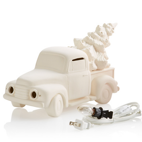 Vintage Truck with Tree Light Up