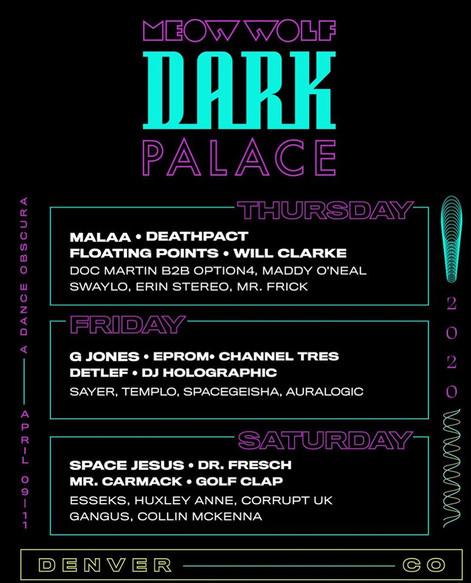 Dark Palace Lineup