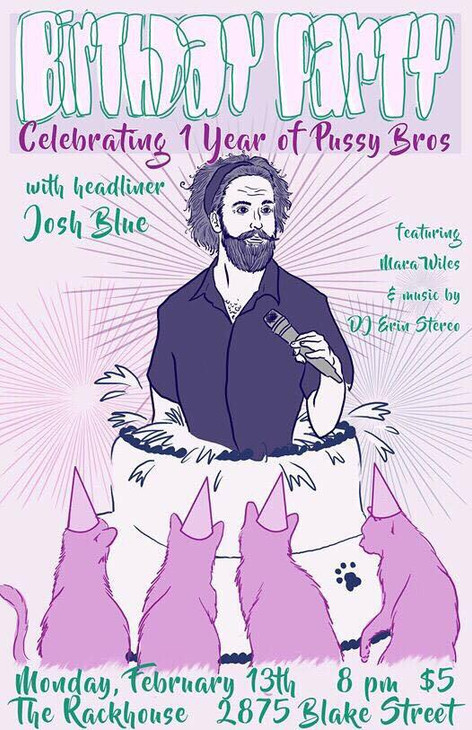 Josh Blue Birthday Poster