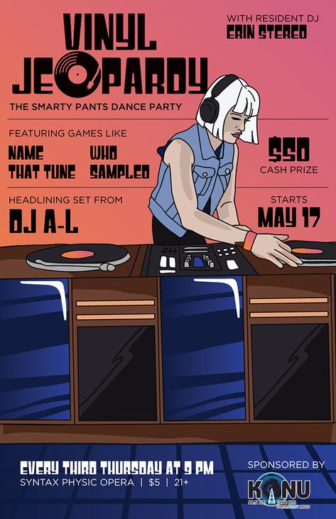 Vinyl Jeopardy Inagural Poster