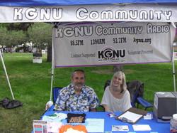 Volunteering with KGNU