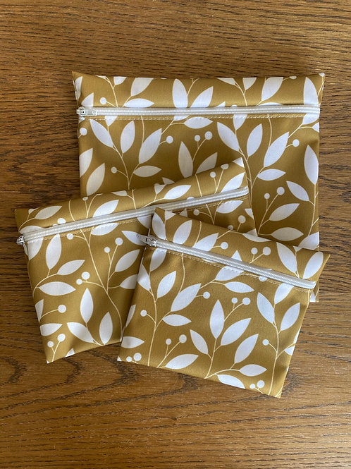 3 reusable snack bags
