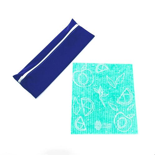 1 sac à ustensiles / 1 essuie-tout en cellulose