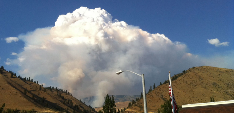 Photo by: Cy Sousley (Nahahum Canyon Fire - August 2009)