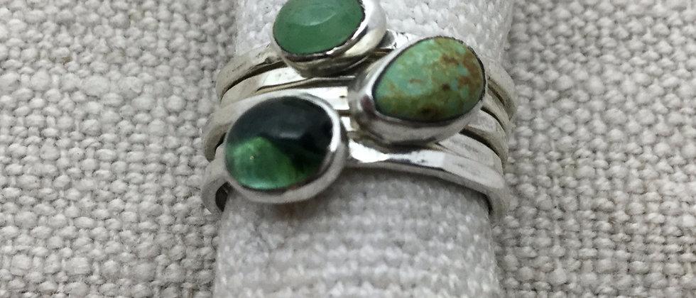 gem stacking rings