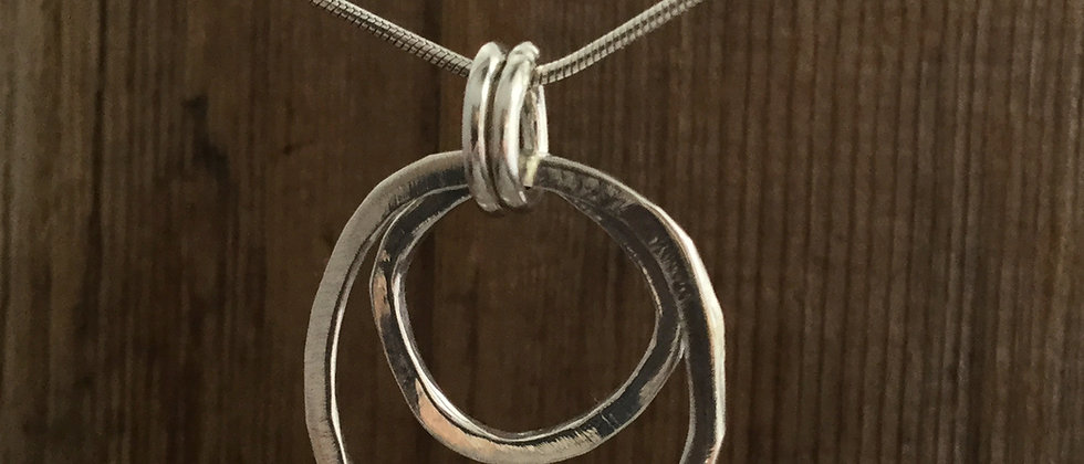 organic double loop pendant