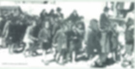 Ben Zimet en 1941 à Nissan en route pour voir le Maréchal Pétain