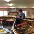 Canoe shop work