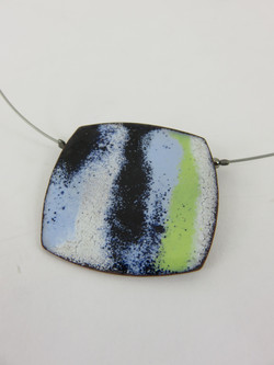 abstract square pendant