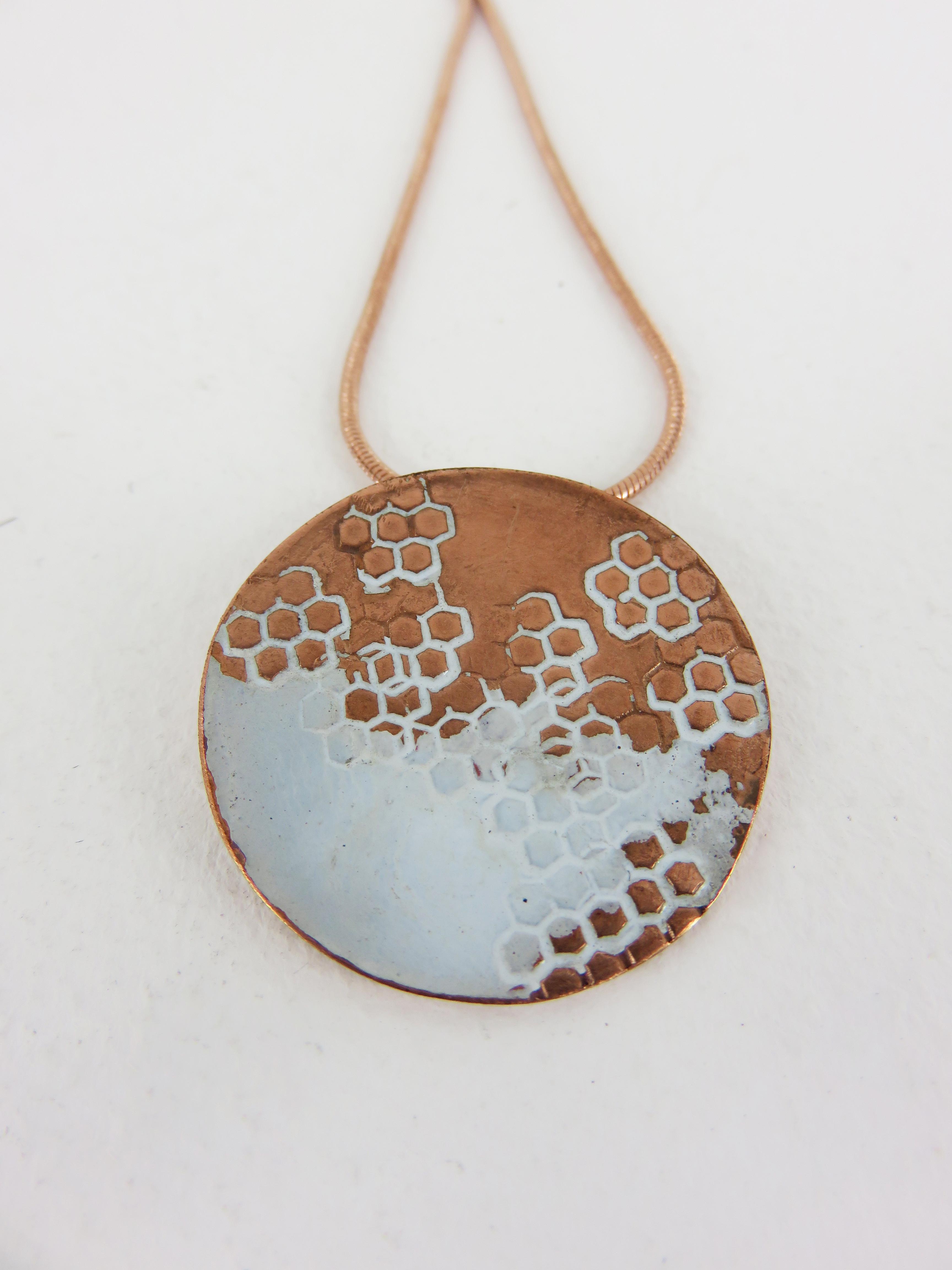 round hexagon pendant