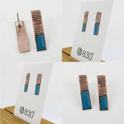long rectangle earrings