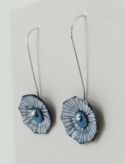 line dangle earrings