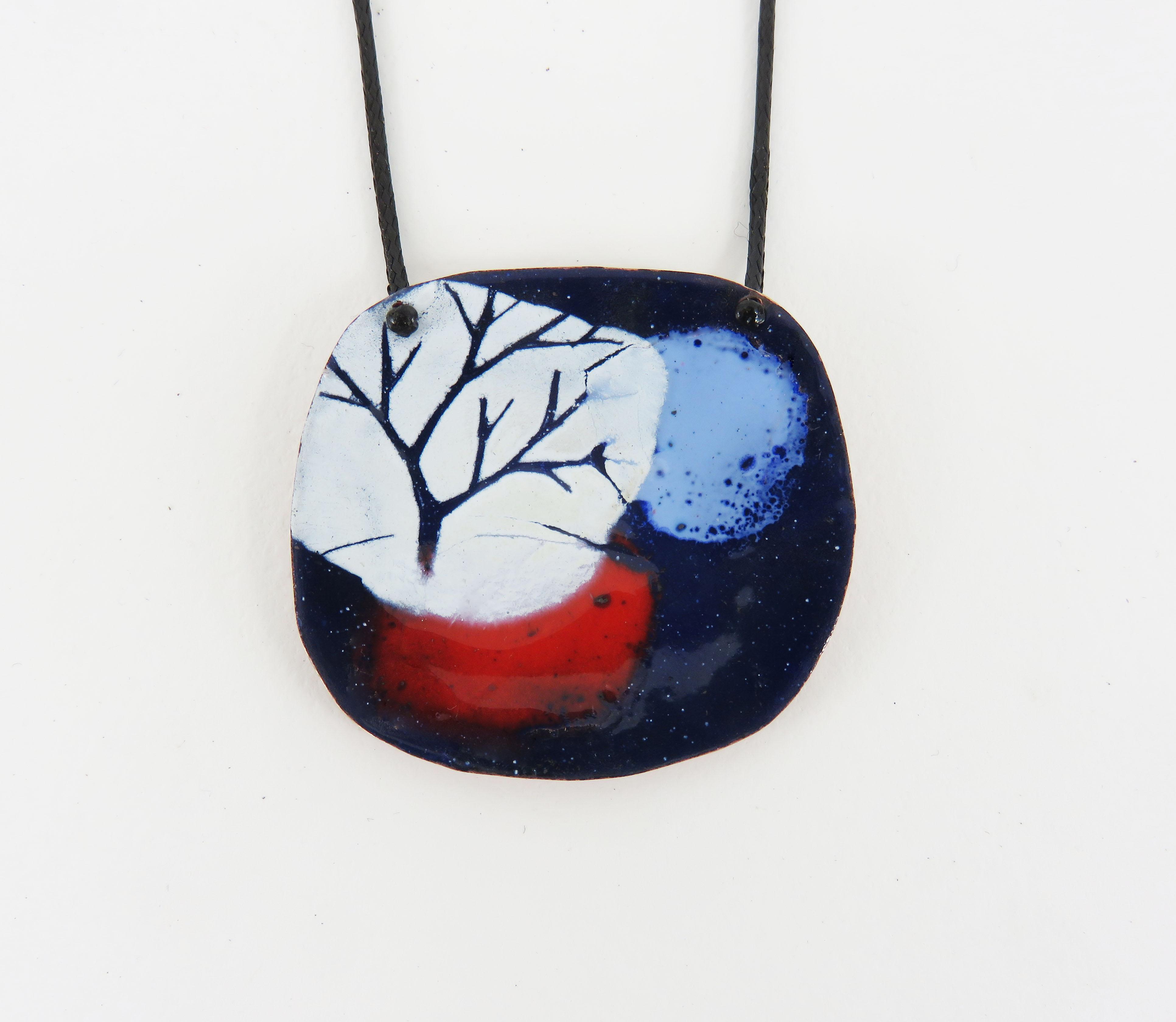 Tree in Three Colours Pendant