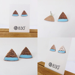 Triangle dot earrings