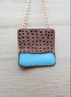 Square holes pendant