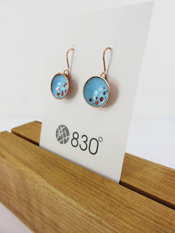 turquoise cup earrings