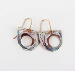 semi circle dangle earrings