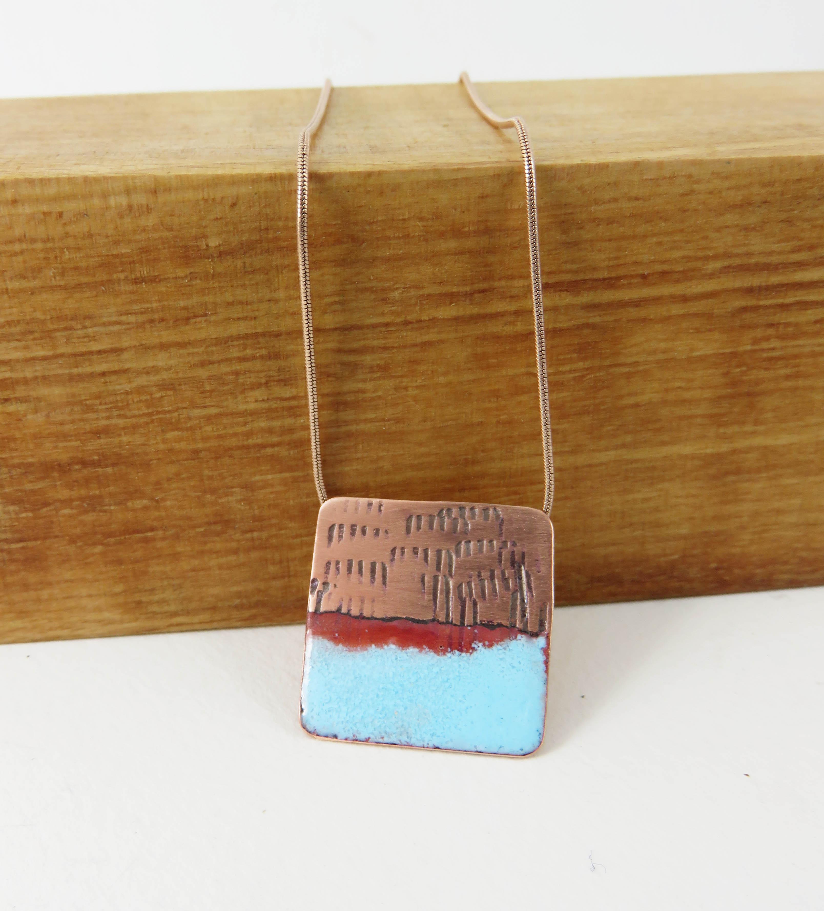 Square dipped pendant