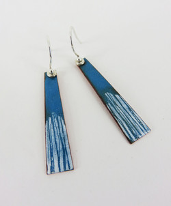 Turquoise line earrings