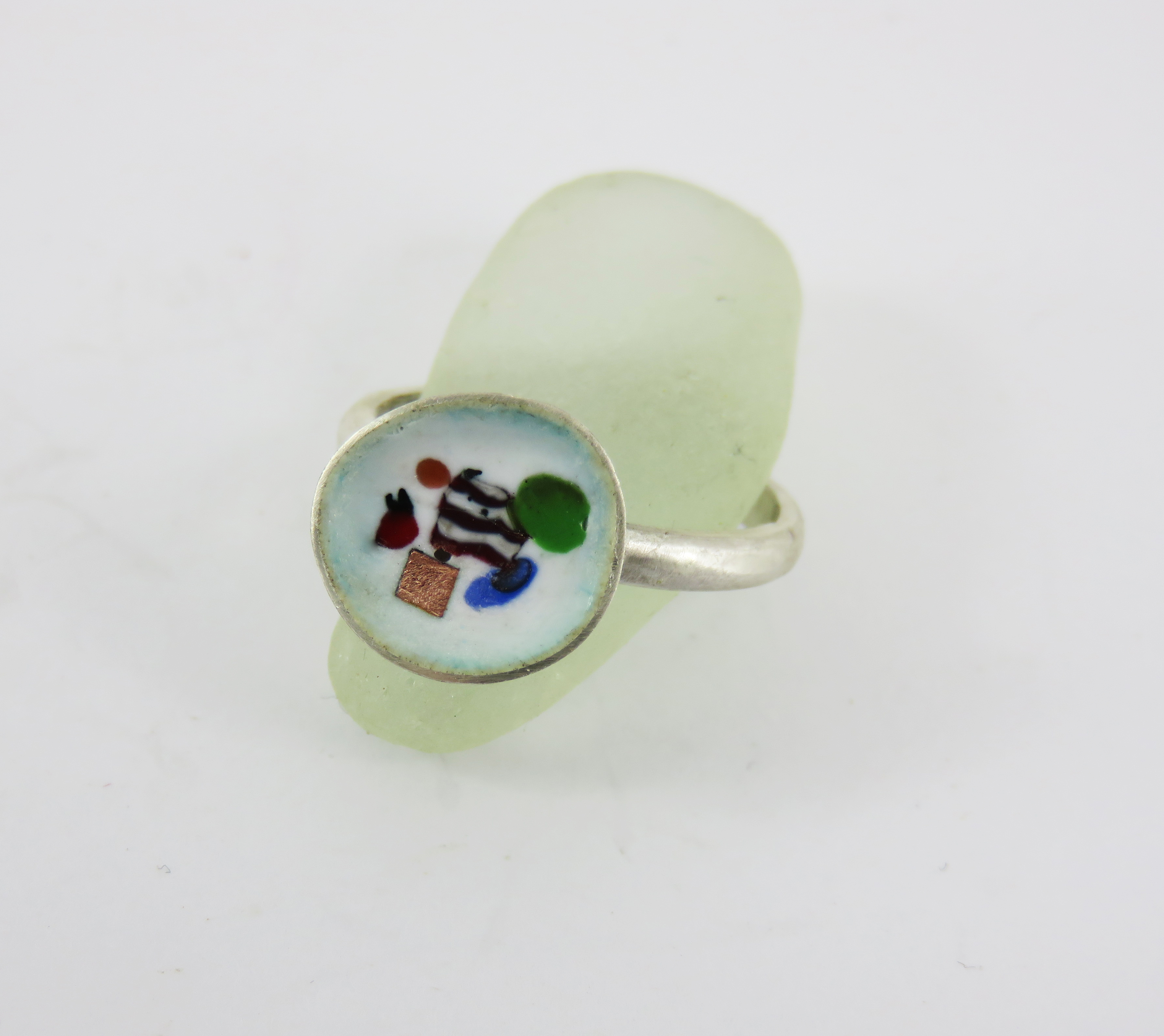 abstract enamel ring