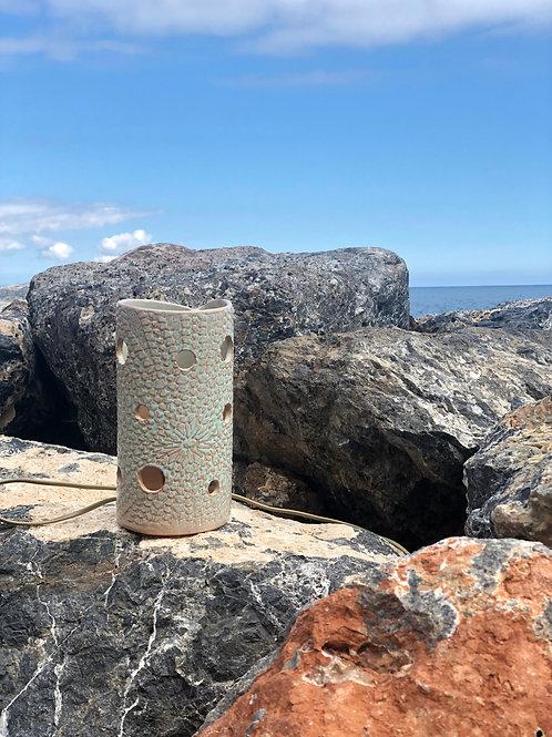 Lámpara-escultura marina cerámica portuguesa