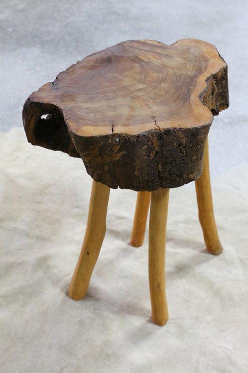 Mesa auxiliar tronco de árbol. Pieza única