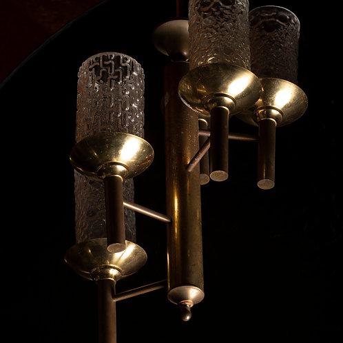 Lámpara modernista de cristal de Murano