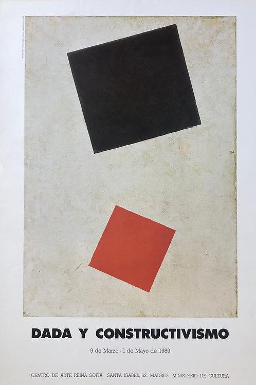 """Cartel original de la exposición """"Dadá y constructivismo"""" (soporte incluido)"""