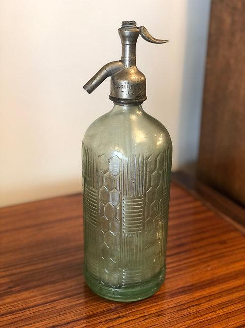 Botella sifón antiguo de cristal años 20
