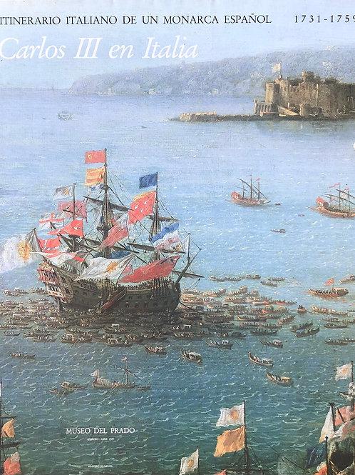 """Cartel original de la exposición """"Carlos III en Italia"""" (soporte incluido)"""