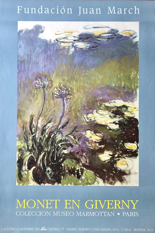 """Cartel original de la exposición """"Monet en Giverny"""""""