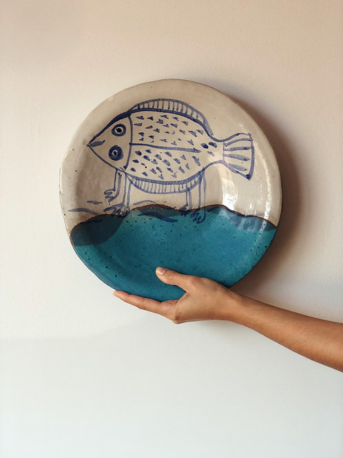Fuente cerámica andaluza. Pieza única