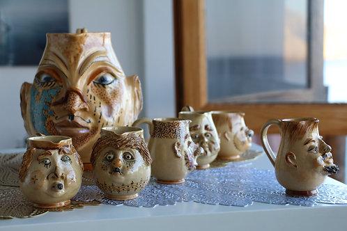 Juego de piezas únicas de cerámica