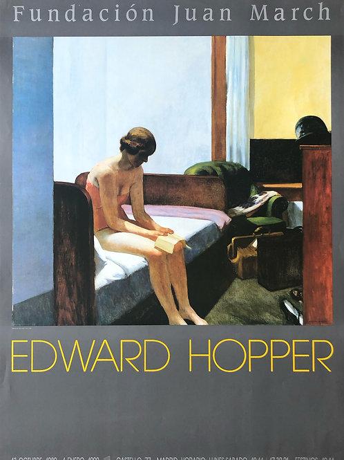 """Cartel original de la exposición """"Edward Hopper"""" (soporte incluido)"""
