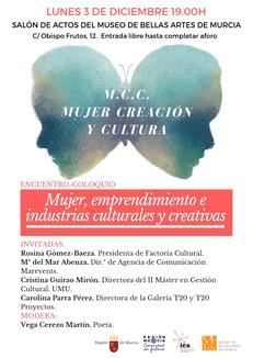 """ENCUENTRO -COLOQUIO """"Mujer, emprendimiento e industrias culturales y creativas."""""""